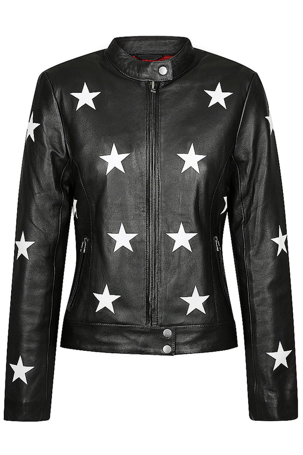 Black Arrow Label Midnight Women's Leather Motorcycle Jacket online at Moto Est. Australia