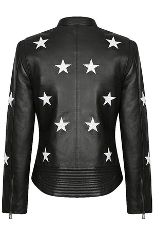 Midnight Women's Leather Motorcycle Jacket