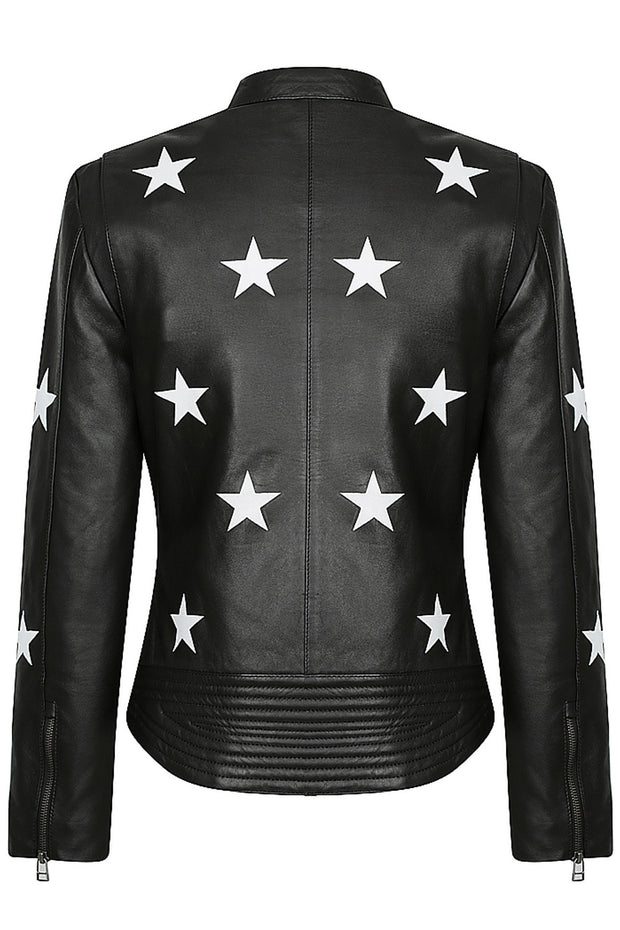 Buy the black arrow red label midnight womens leather motorcycle jacket online at Moto Est. Australia