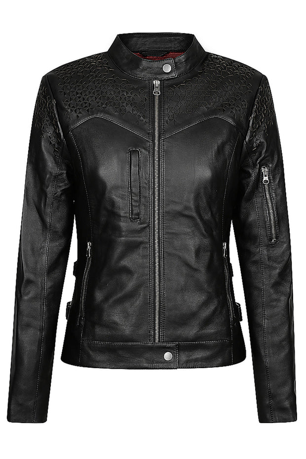 Black Arrow Label Trix Women's Leather Motorcycle Jacket online at Moto Est. Australia