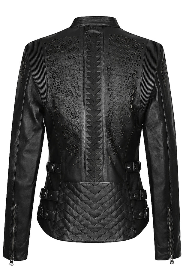 Buy the black arrow red label trix womens leather motorcycle jacket online at Moto Est. Australia