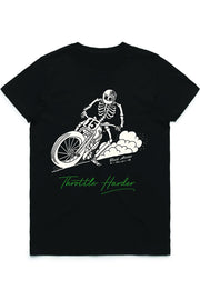 Black Arrow Label Throttle Harder T-Shirt online at Moto Est. Australia