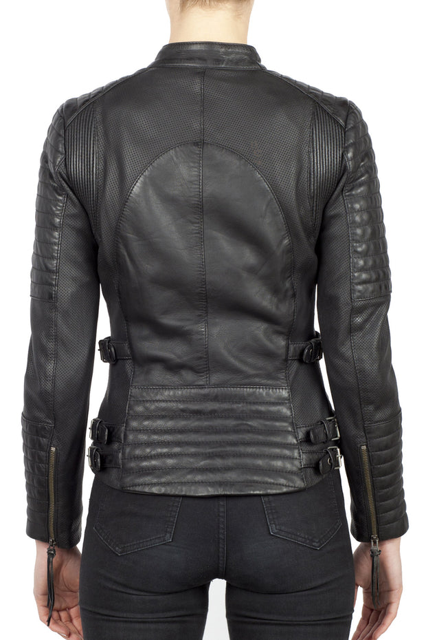Buy the wild free leather jacket black online at Moto Est. Australia 3