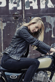 Buy the wild free leather jacket black online at Moto Est. Australia 5