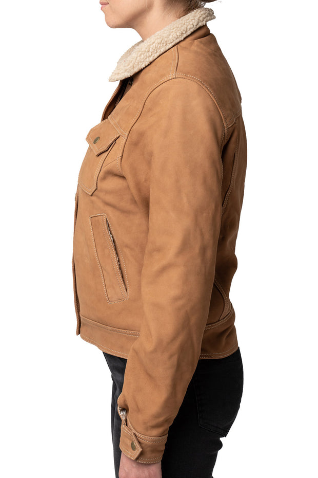 Buy the dakota nubuck leather jacket online at Moto Est. Australia