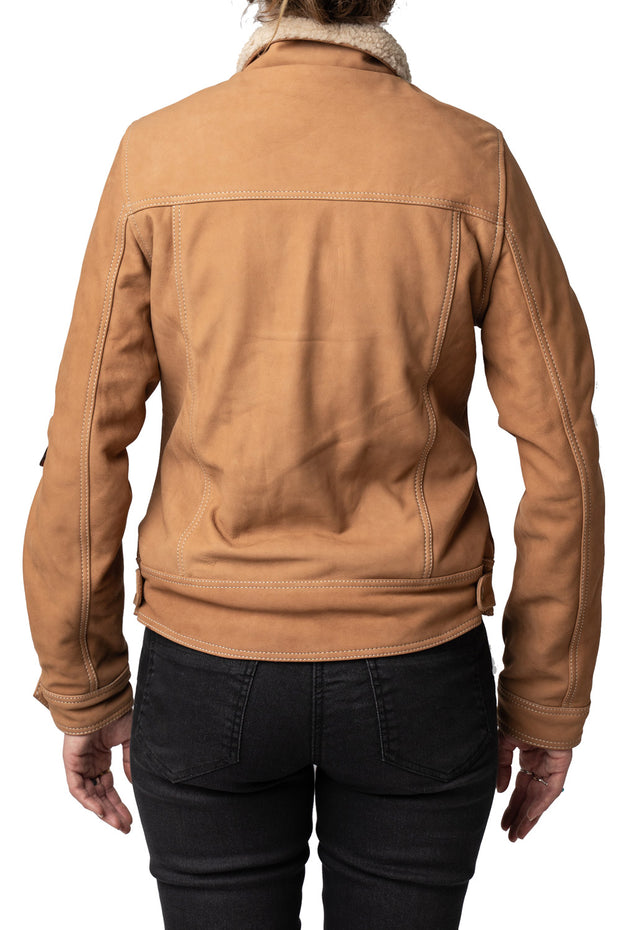 Buy the dakota nubuck leather jacket online at Moto Est. Australia 3