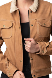 Buy the dakota nubuck leather jacket online at Moto Est. Australia 4