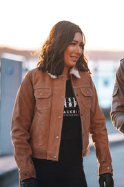 Buy the dakota nubuck leather jacket online at Moto Est. Australia 2