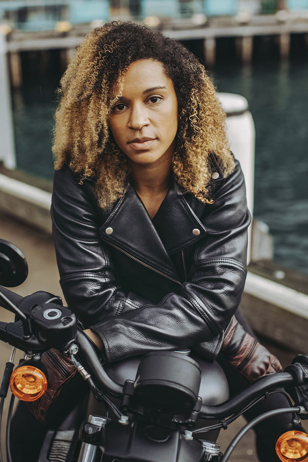 leather biker jacket at Moto Est Australia