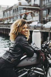 womens leather motorcycle jacket at Moto Est, Australia
