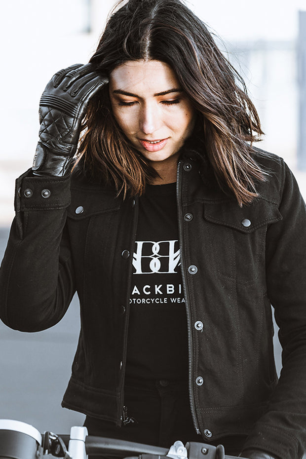 Buy the cafe quilted gloves black online at Moto Est. Australia