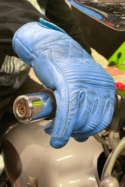 Buy the cafe quilted gloves blue online at Moto Est. Australia 5