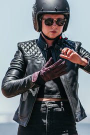 Blackbird Motorcycle Wear Women's Isla Leather Motorcycle Jacket at Moto Est. 2