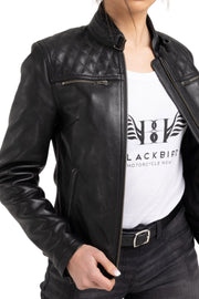 Blackbird Motorcycle Wear Women's Isla Leather Motorcycle Jacket at Moto Est. 3