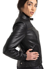 Blackbird Motorcycle Wear Women's Isla Leather Motorcycle Jacket at Moto Est. 4