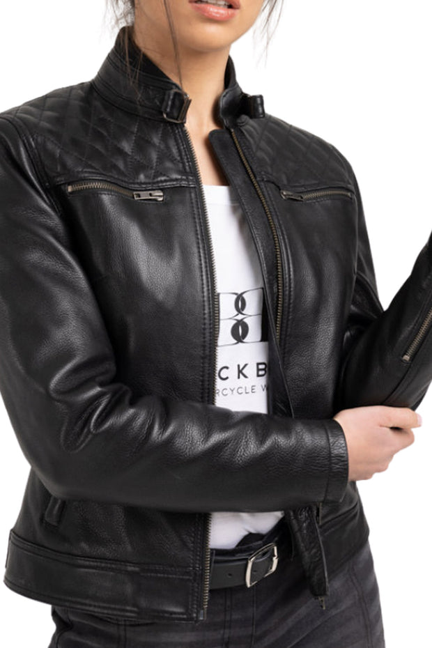 Blackbird Motorcycle Wear Women's Isla Leather Motorcycle Jacket at Moto Est. 5