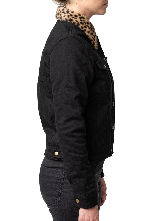 Buy the jungle jane denim jacket black online at Moto Est. Australia 3
