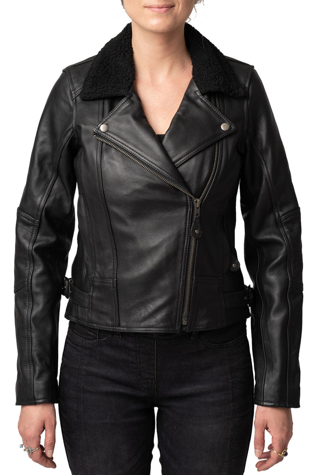 Blackbird Motorcycle Wear Night Owl Women's Leather Motorcycle Jacket online at Moto Est. Australia