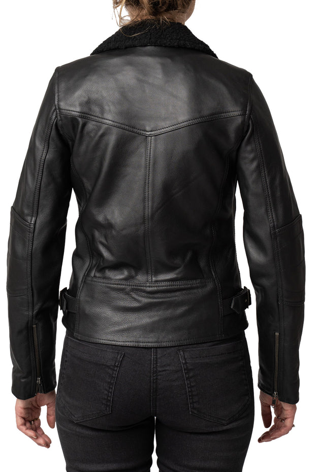 Buy the night owl leather jacket black online at Moto Est. Australia 3