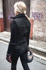 Women's Nubuck Leather Vest