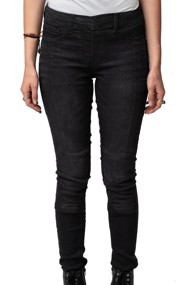 Buy the stretch skinny jeans protective lined black online at Moto Est. Australia
