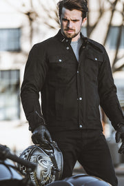 Blackbird Motorcycle Wear  Winton Men's Waxed Cotton Motorcycle Jacket
