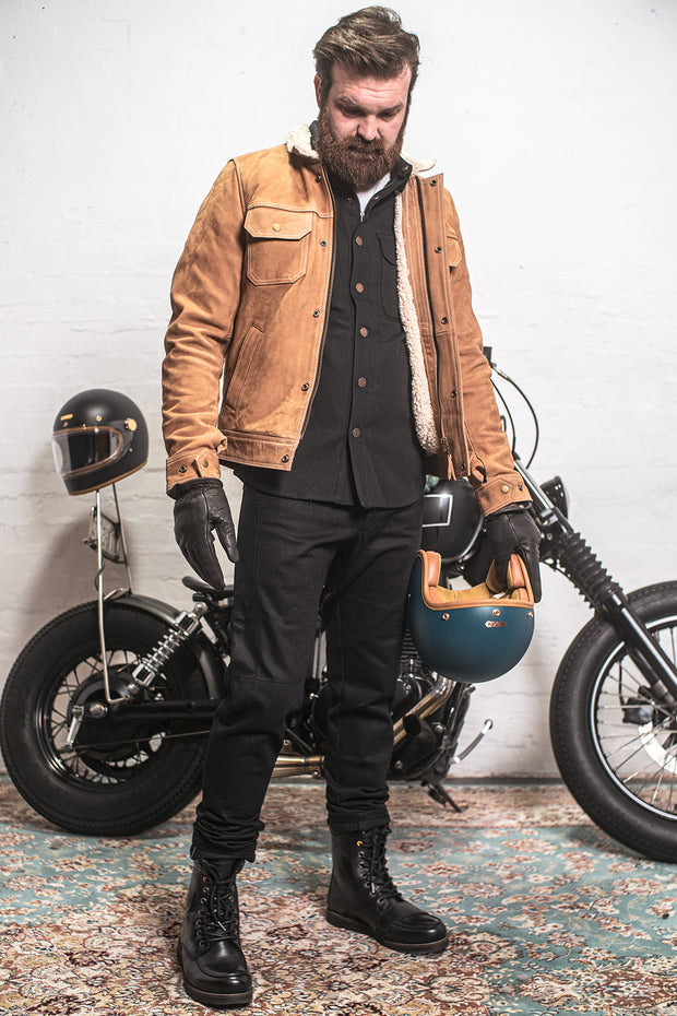 Clutch Moto  Selvedge Men's Black on Black Motorcycle Jeans