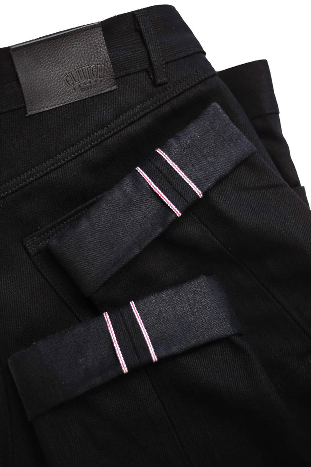 Buy the clutch moto selvedge black black online at Moto Est. Australia 5
