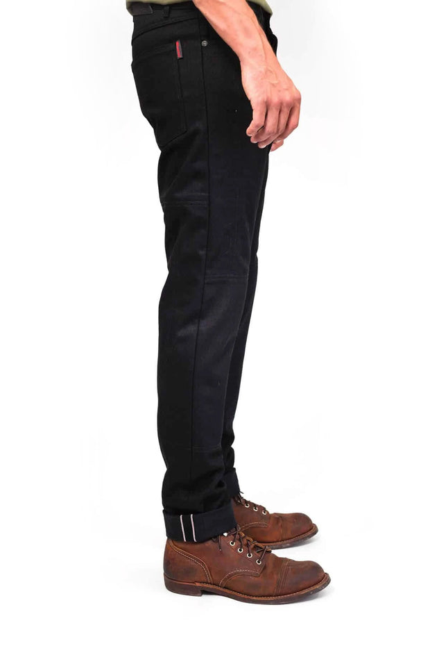 Buy the clutch moto selvedge black black online at Moto Est. Australia 3