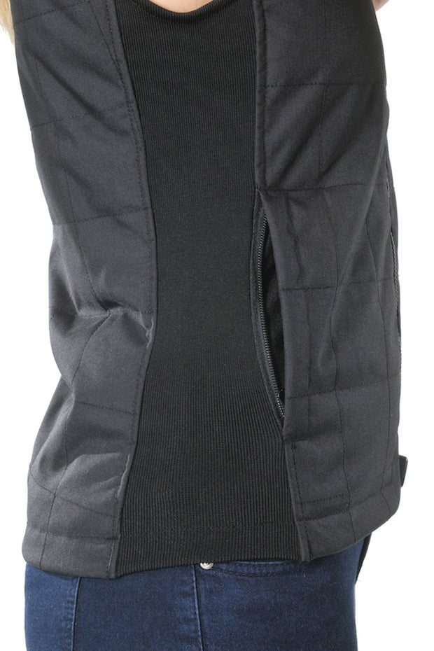 Corazzo Design Cordura Motorcycle Vest in Black online at Moto Est. Australia 4