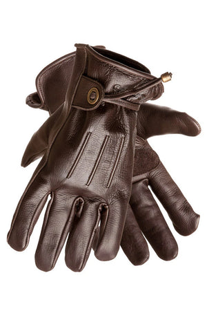Cordero Leather Motorcycle Gloves | Brown
