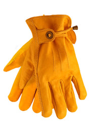 Corazzo Design Cordero Leather Motorcycle Gloves in Yellow online at Moto Est. Australia