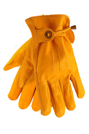 Cordero Leather Motorcycle Gloves | Yellow