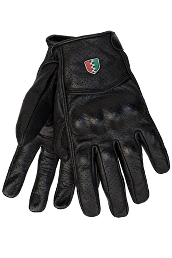 Enzo Leather Motorcycle Gloves