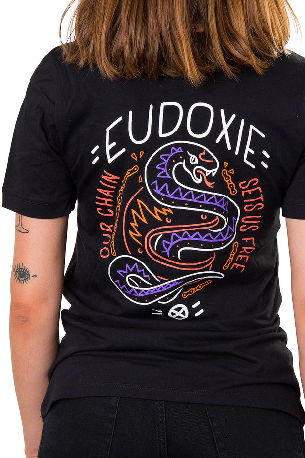 eudoxie tee, back detail print at moto est Australia