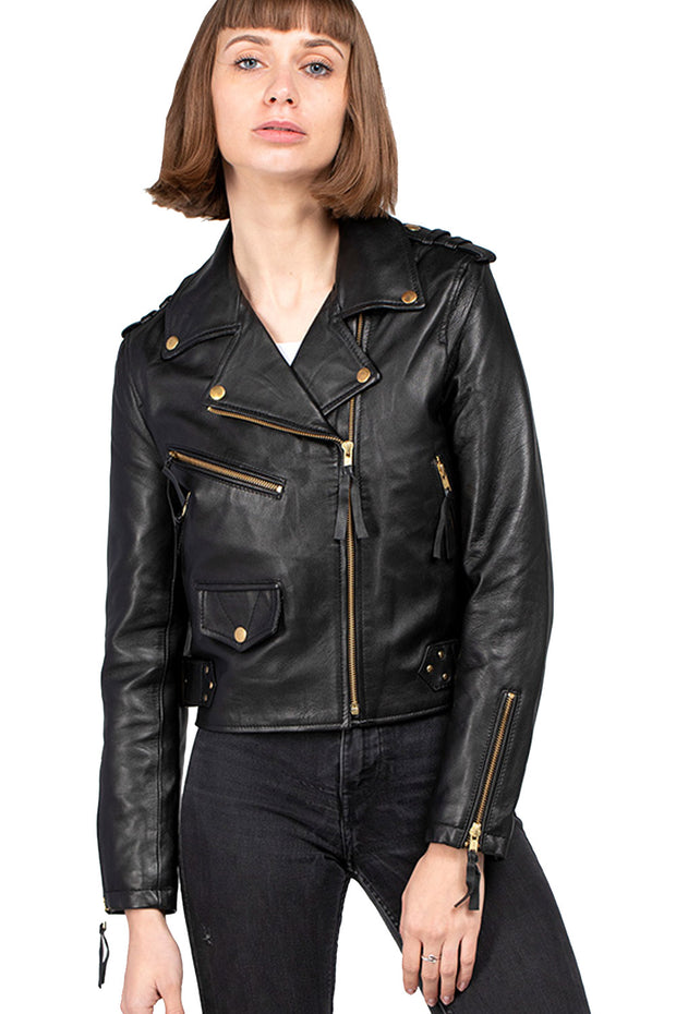 Buy the burning heart leather jacket online at Moto Est. Australia 3