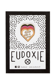 Eudoxie Ride Like A Girl Pin online at Moto Est. Australia