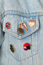 Buy the ride like a girl pin online at Moto Est. Australia