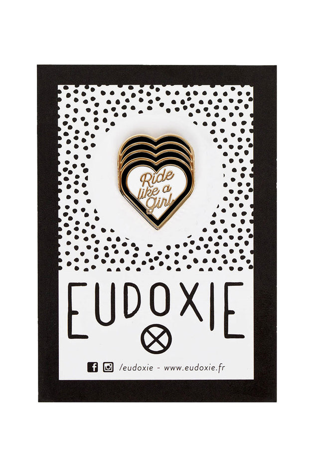 Eudoxie Ride Like A Girl Black Pin online at Moto Est. Australia