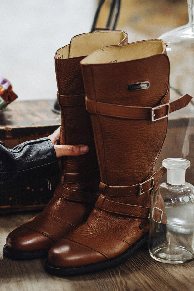 Buy the gasolina autobahn boots honey brown online at Moto Est. Australia 5