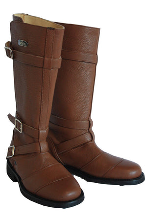 Autobahn Women's Leather Motorcycle Boots | Honey Brown