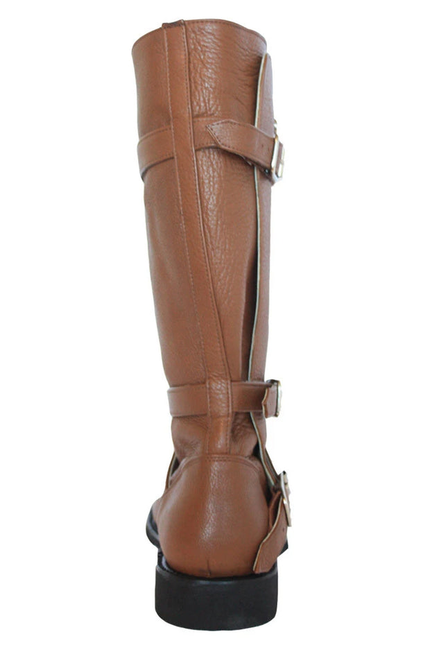 Buy the gasolina autobahn boots honey brown online at Moto Est. Australia