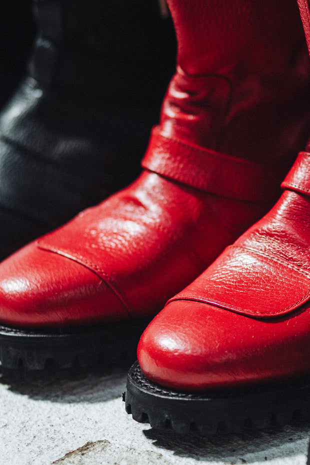 Buy the gasolina ton up boots red online at Moto Est. Australia 6
