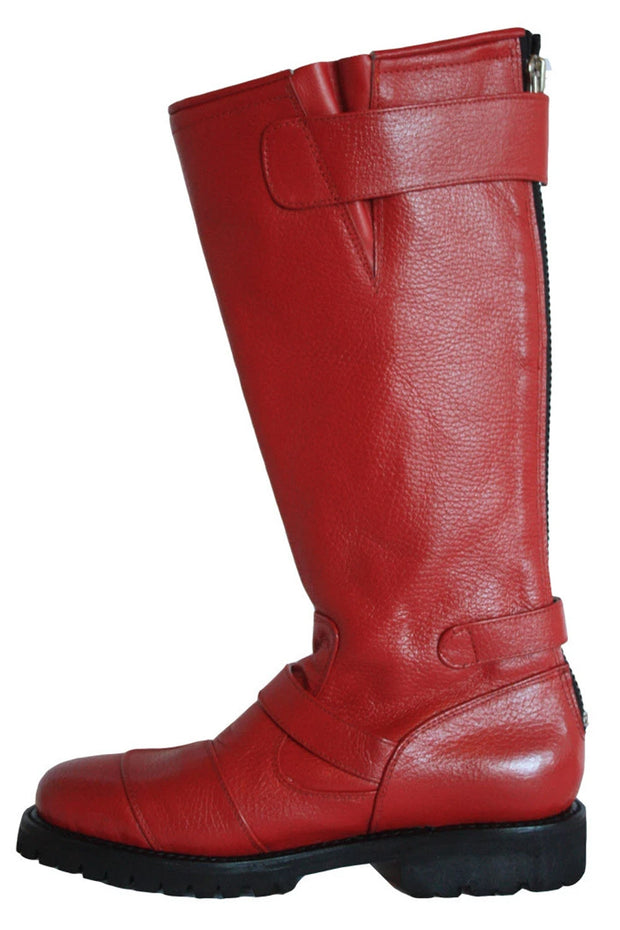 Buy the gasolina ton up boots red online at Moto Est. Australia 4