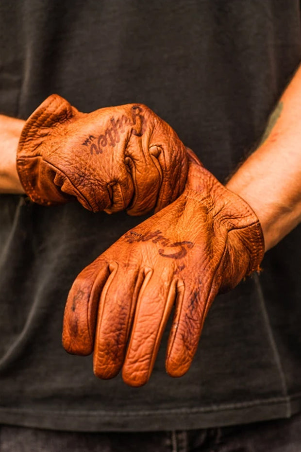 Buy the grifter scoundrel gloves brown online at Moto Est. Australia 5