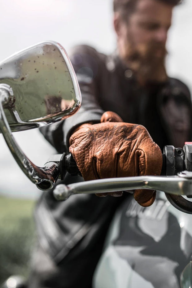 Buy the grifter scoundrel gloves brown online at Moto Est. Australia 6