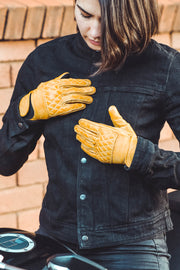 Kiwi Women's Yellow Leather Gloves