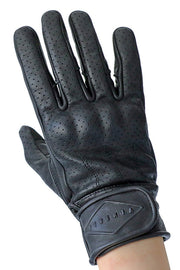 Liberta Moto New Women's Beetle Black Leather Motorcycle Gloves - Moto Est. 1
