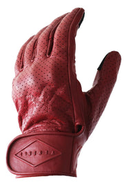 Liberta Moto New Women's Beetle Leather Motorcycle Gloves in Red at Moto Est 3