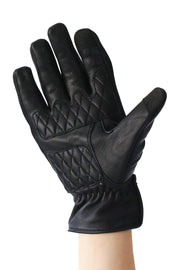 Liberta Moto Men's Cobra Black Leather Motorcycle Gloves at Moto Est. 2